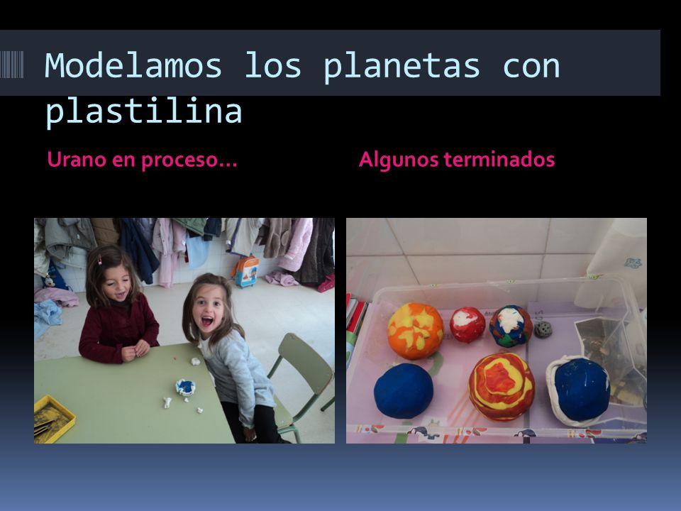 Modelamos los planetas con plastilina