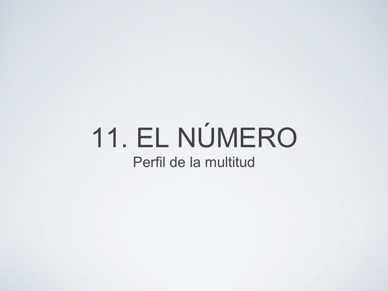 11. EL NÚMERO Perfil de la multitud