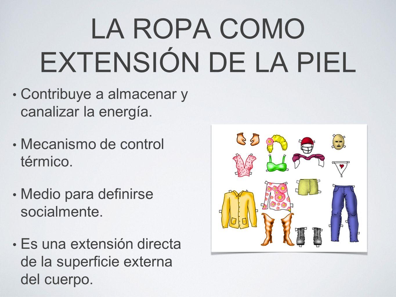 LA ROPA COMO EXTENSIÓN DE LA PIEL