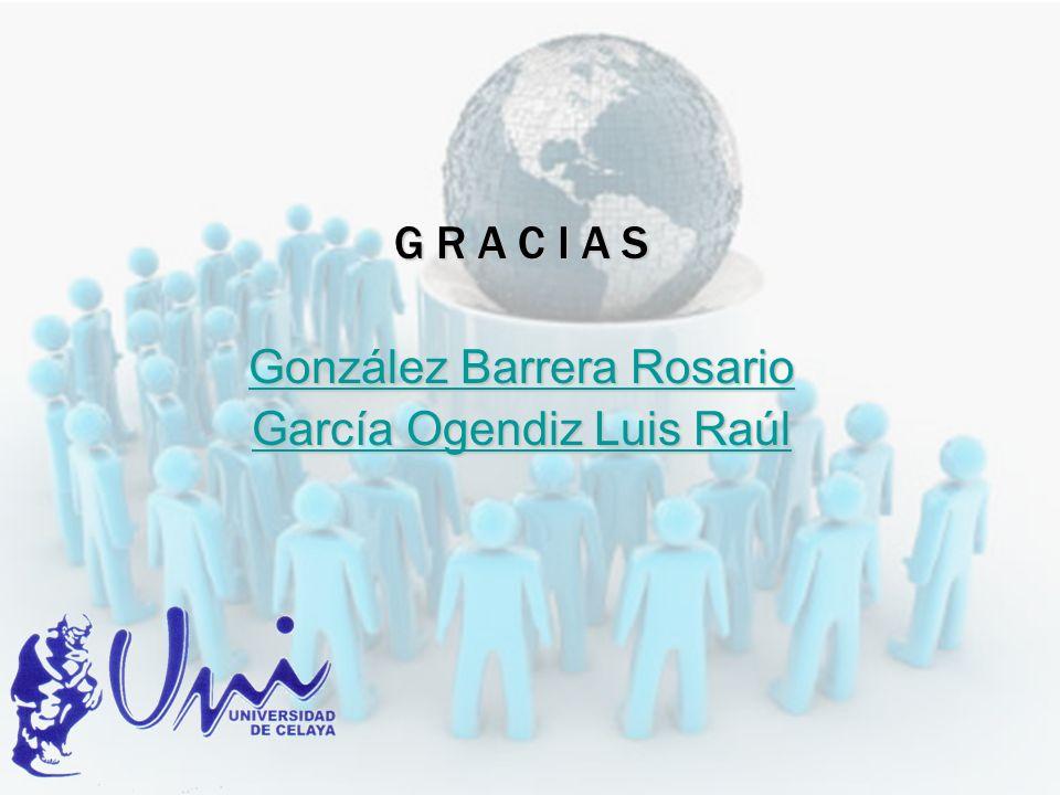 González Barrera Rosario García Ogendiz Luis Raúl