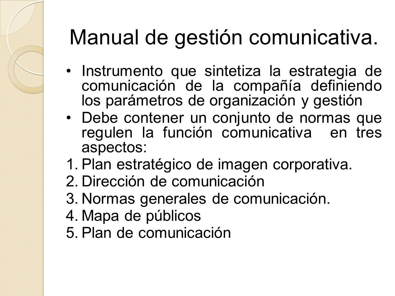 Manual de gestión comunicativa.