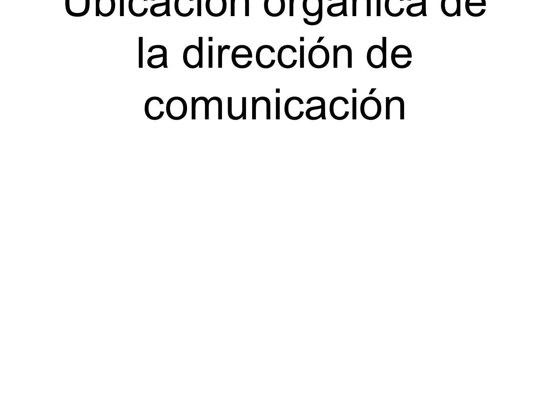 Ubicación organica de la dirección de comunicación