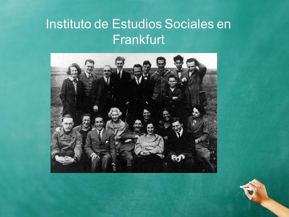 Instituto de Estudios Sociales en Frankfurt