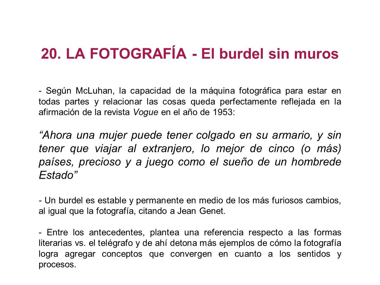 20. LA FOTOGRAFÍA - El burdel sin muros