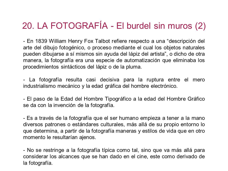 20. LA FOTOGRAFÍA - El burdel sin muros (2)