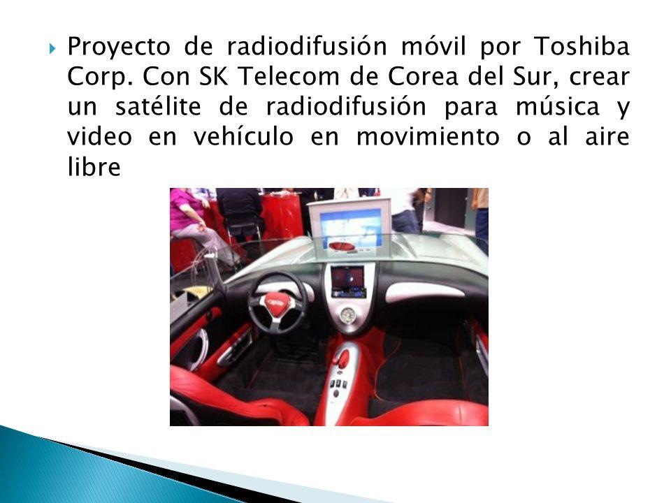 Proyecto de radiodifusión móvil por Toshiba Corp