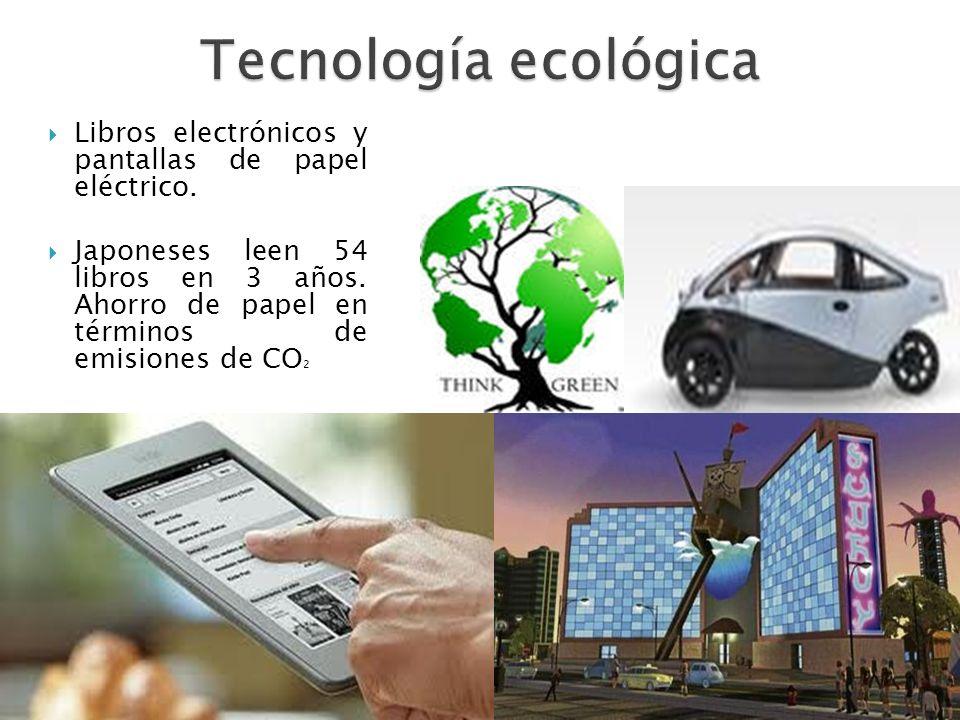 Tecnología ecológica Libros electrónicos y pantallas de papel eléctrico.