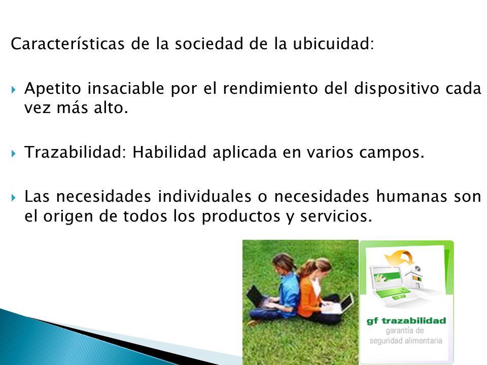 Características de la sociedad de la ubicuidad: