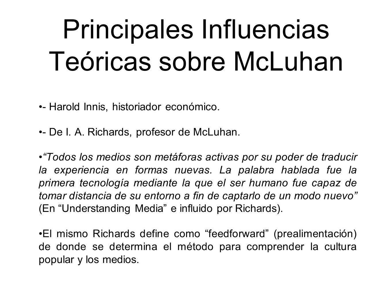 Principales Influencias Teóricas sobre McLuhan