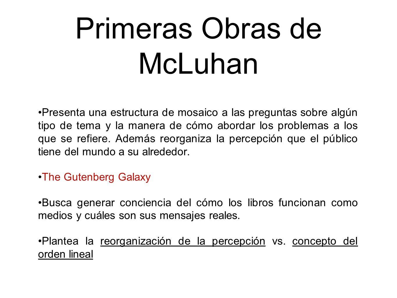 Primeras Obras de McLuhan