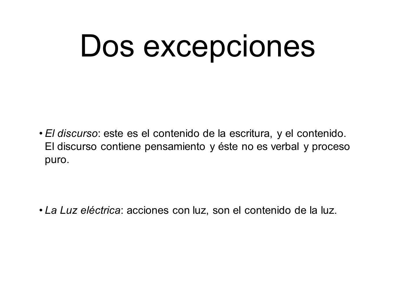Dos excepciones
