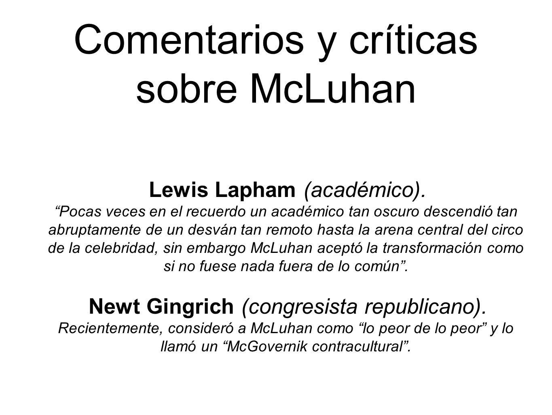 Comentarios y críticas sobre McLuhan