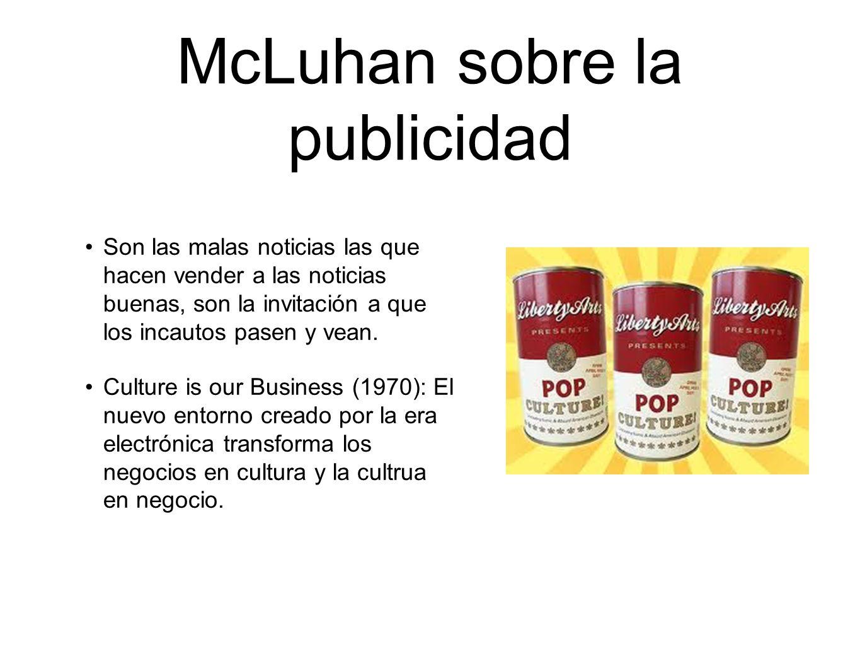 McLuhan sobre la publicidad