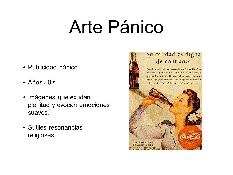 Arte Pánico Publicidad pánico. Años 50 s