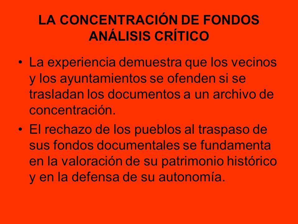 LA CONCENTRACIÓN DE FONDOS ANÁLISIS CRÍTICO