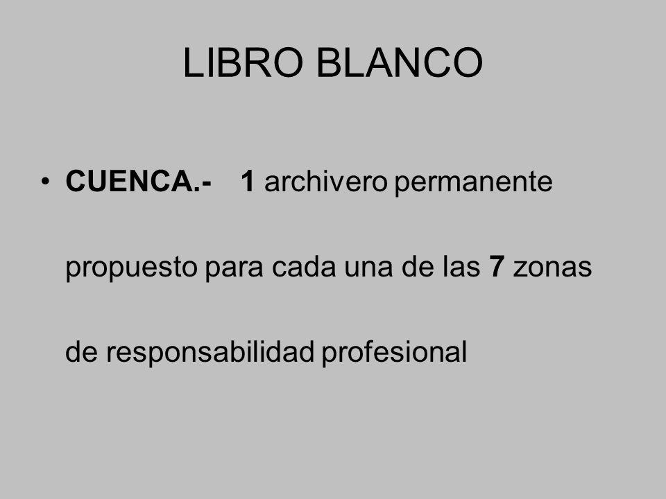 LIBRO BLANCO CUENCA.- 1 archivero permanente