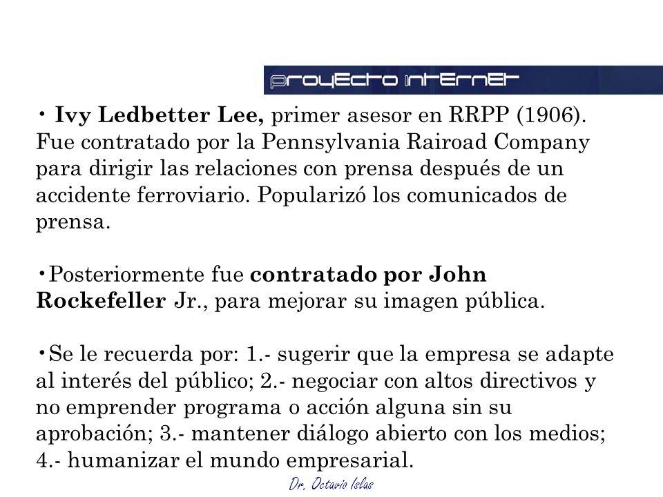 Ivy Ledbetter Lee, primer asesor en RRPP (1906)