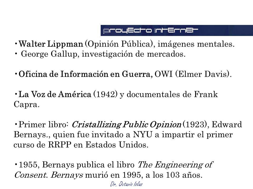 Walter Lippman (Opinión Pública), imágenes mentales.