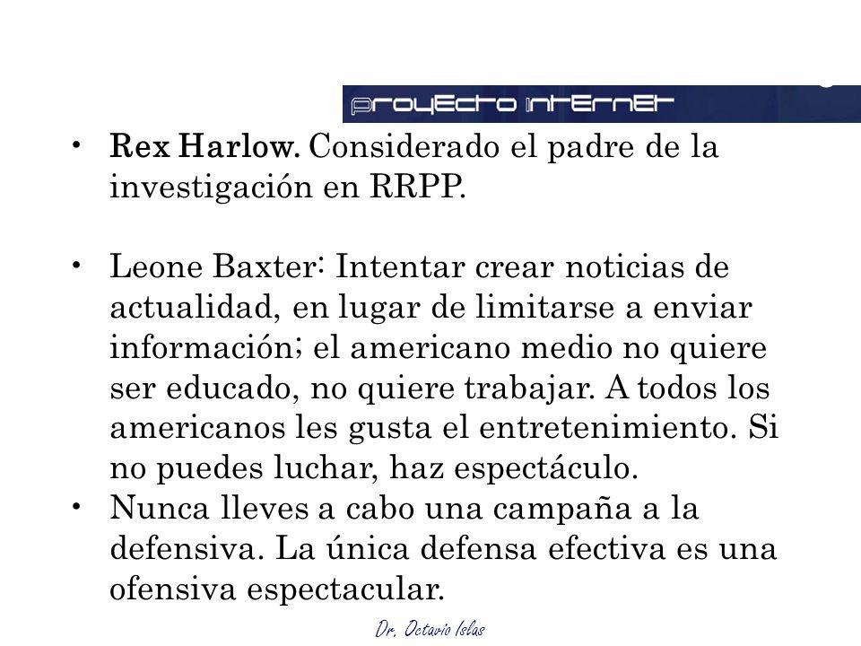 Outsourcing Rex Harlow. Considerado el padre de la investigación en RRPP.