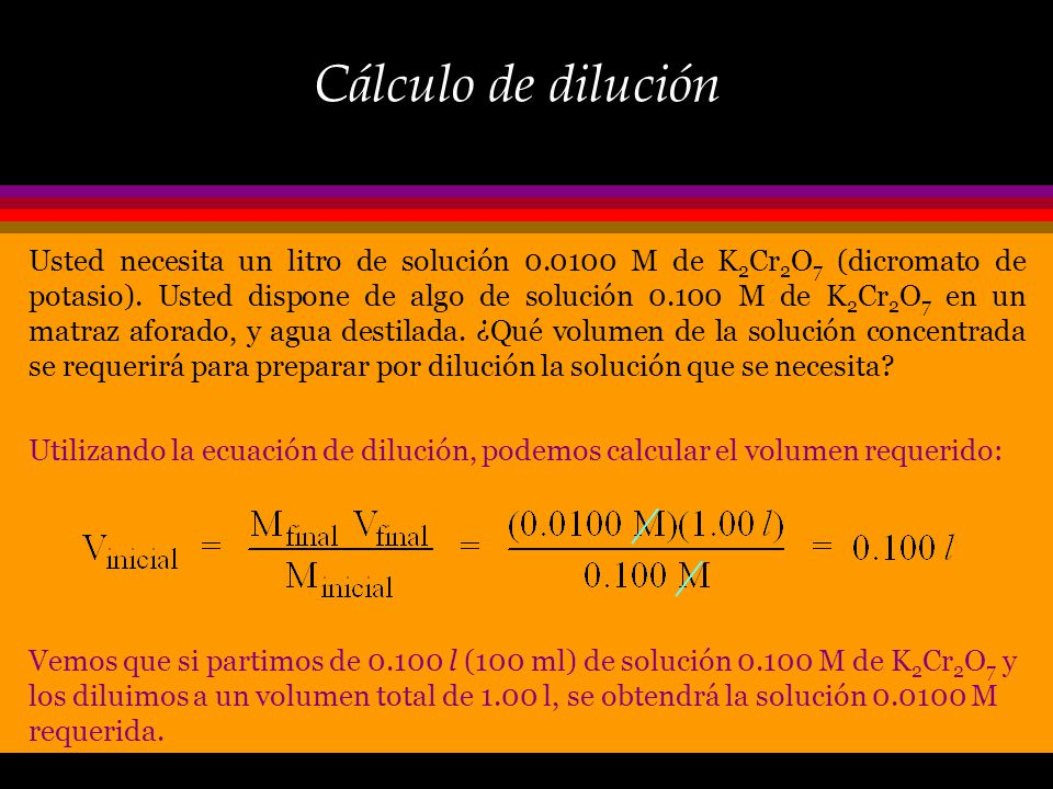 Cálculo de dilución