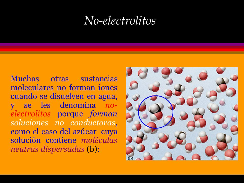 No-electrolitos