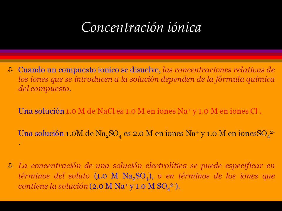Concentración iónica