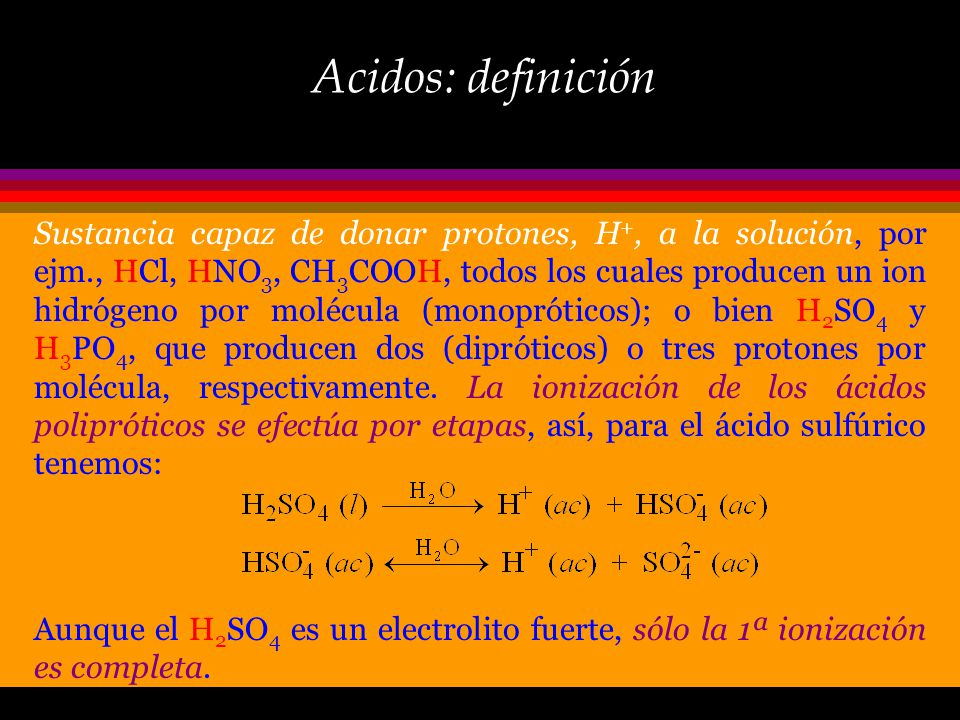 Acidos: definición