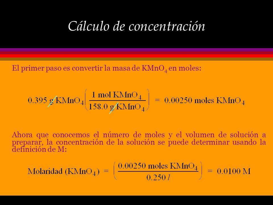 Cálculo de concentración