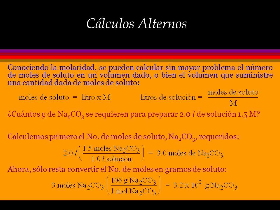 Cálculos Alternos