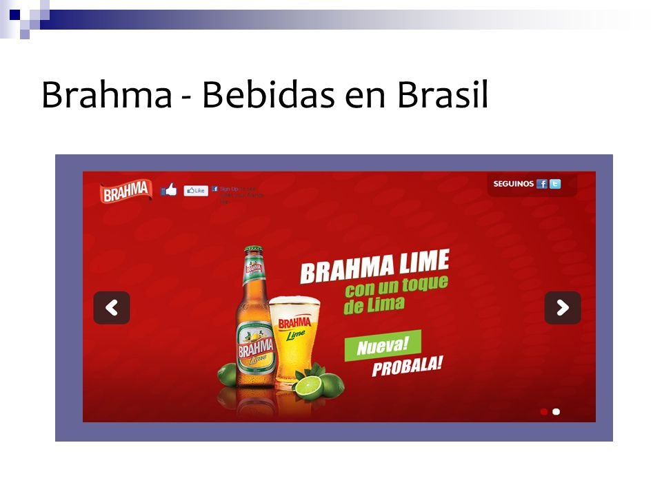 Brahma - Bebidas en Brasil