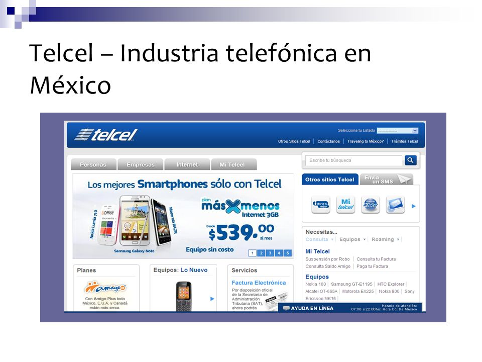 Telcel – Industria telefónica en México