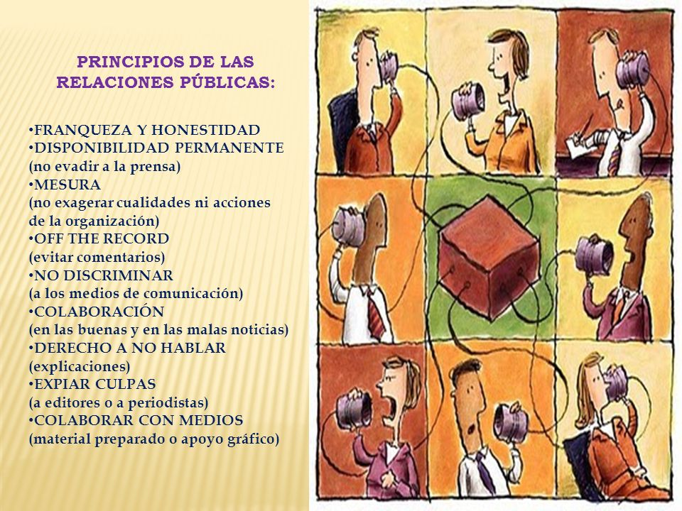 PRINCIPIOS DE LAS RELACIONES PÚBLICAS: