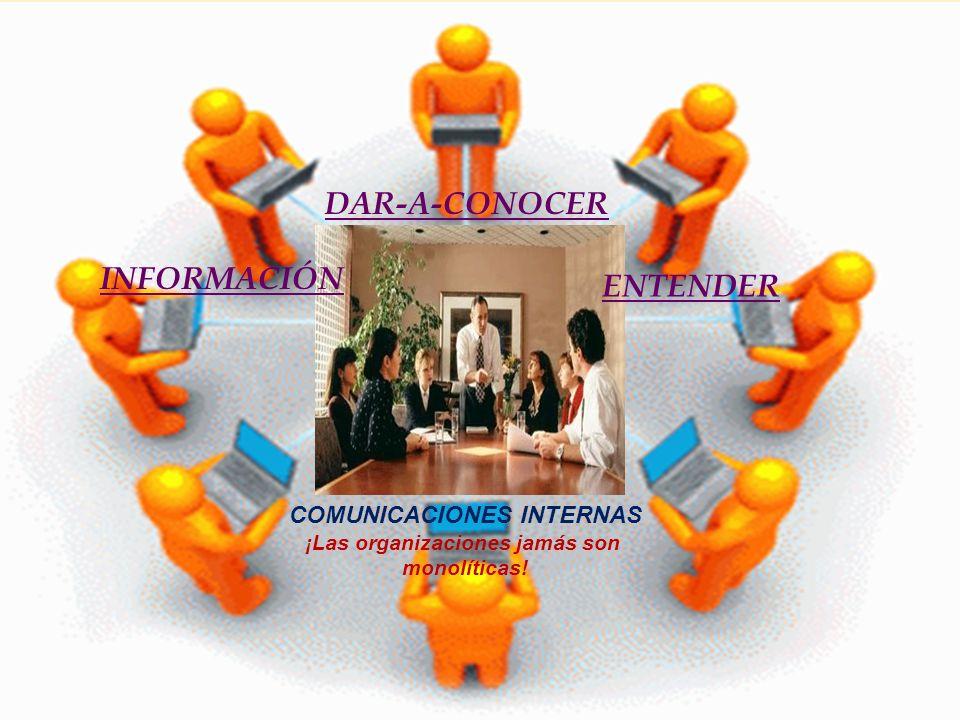 COMUNICACIONES INTERNAS ¡Las organizaciones jamás son