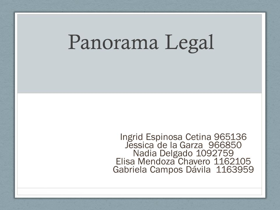 Panorama Legal Ingrid Espinosa Cetina 965136