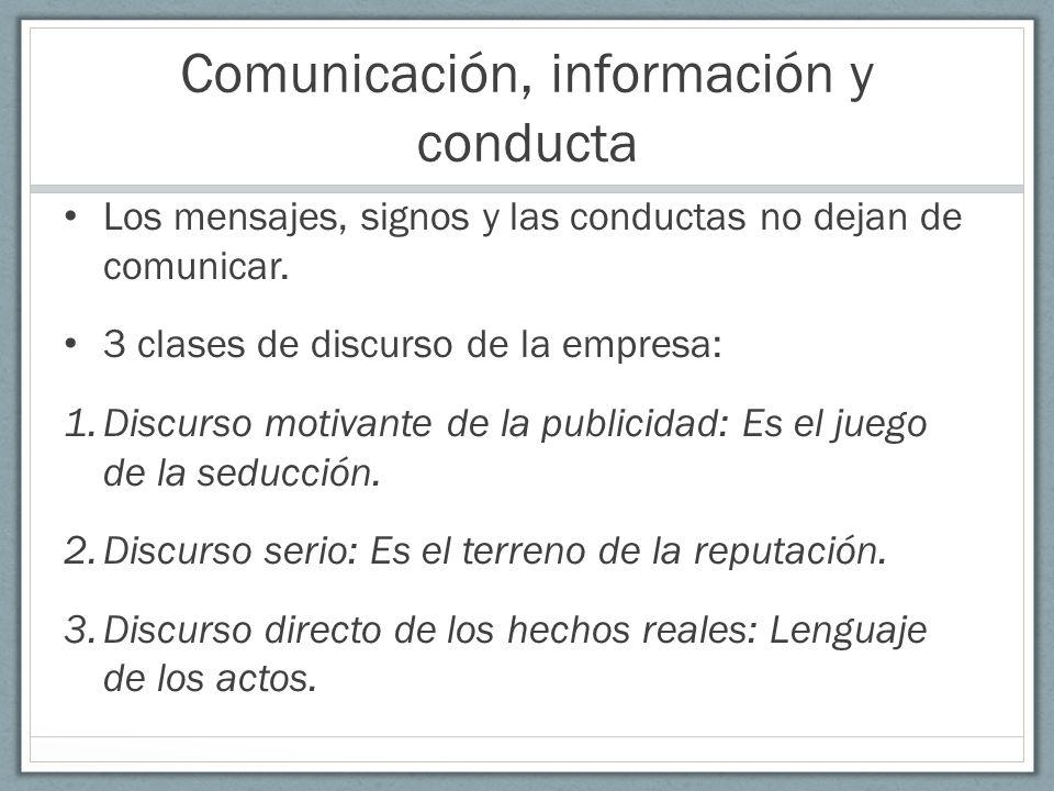 Comunicación, información y conducta