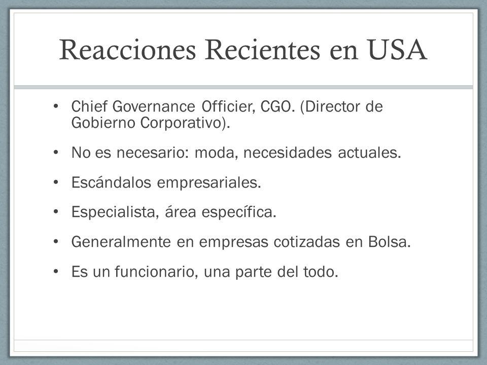 Reacciones Recientes en USA