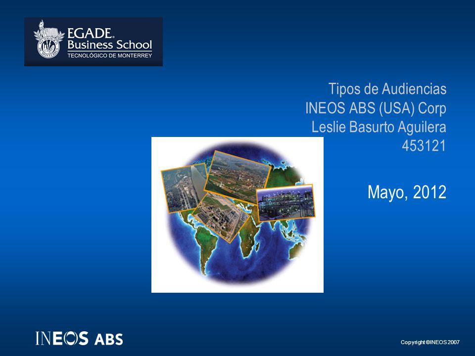 Tipos de Audiencias INEOS ABS (USA) Corp Leslie Basurto Aguilera 453121