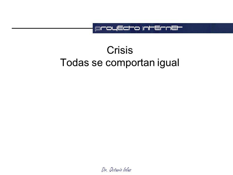 Crisis Todas se comportan igual