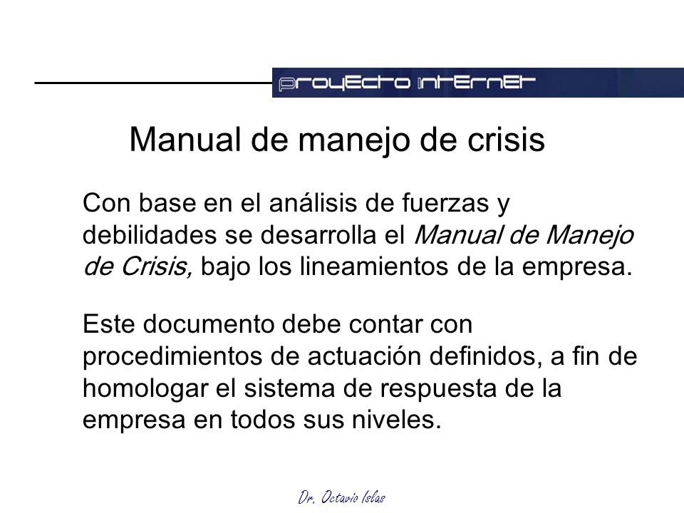 Manual de manejo de crisis