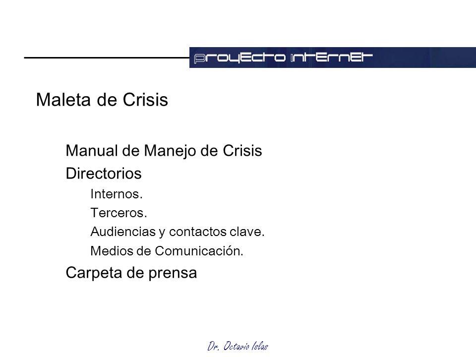 Maleta de Crisis Manual de Manejo de Crisis Directorios