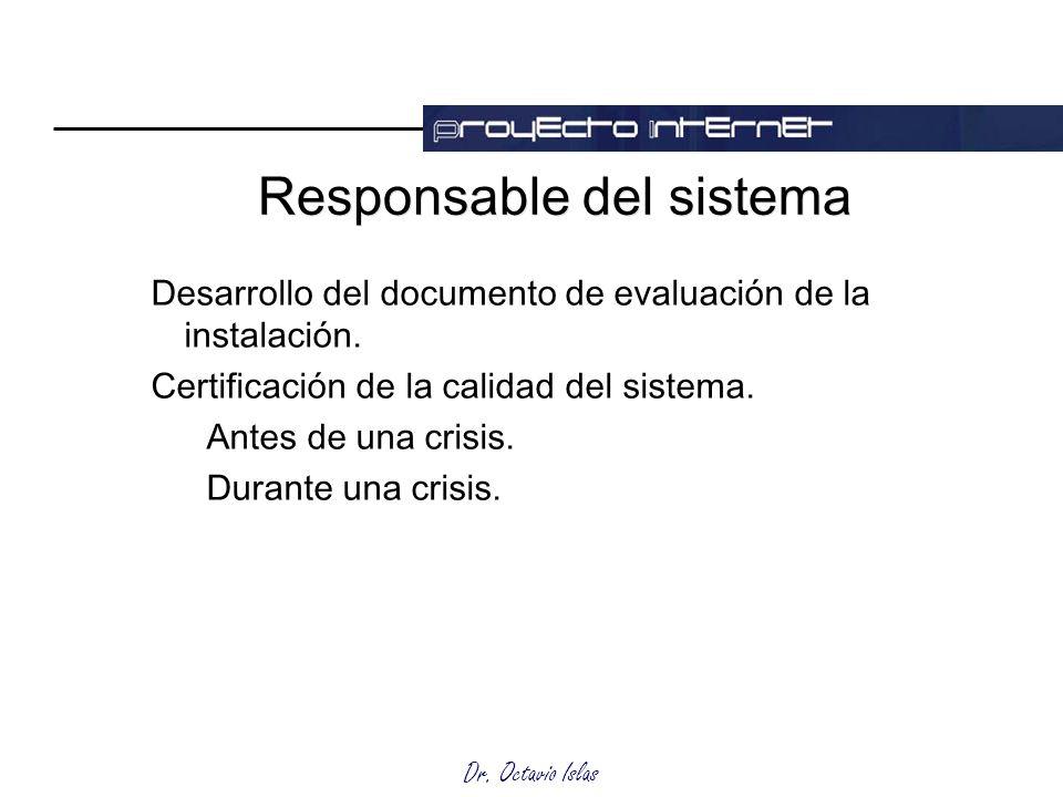 Responsable del sistema