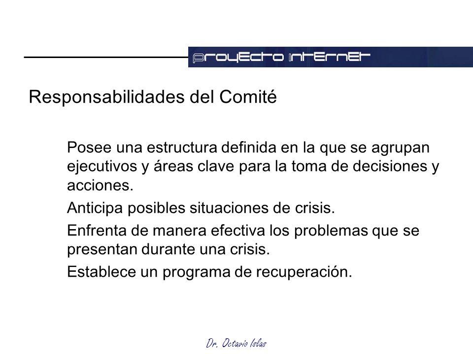 Responsabilidades del Comité