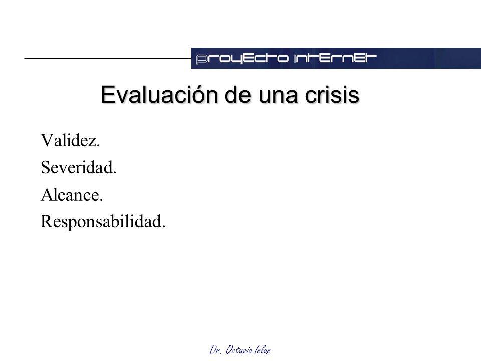 Evaluación de una crisis