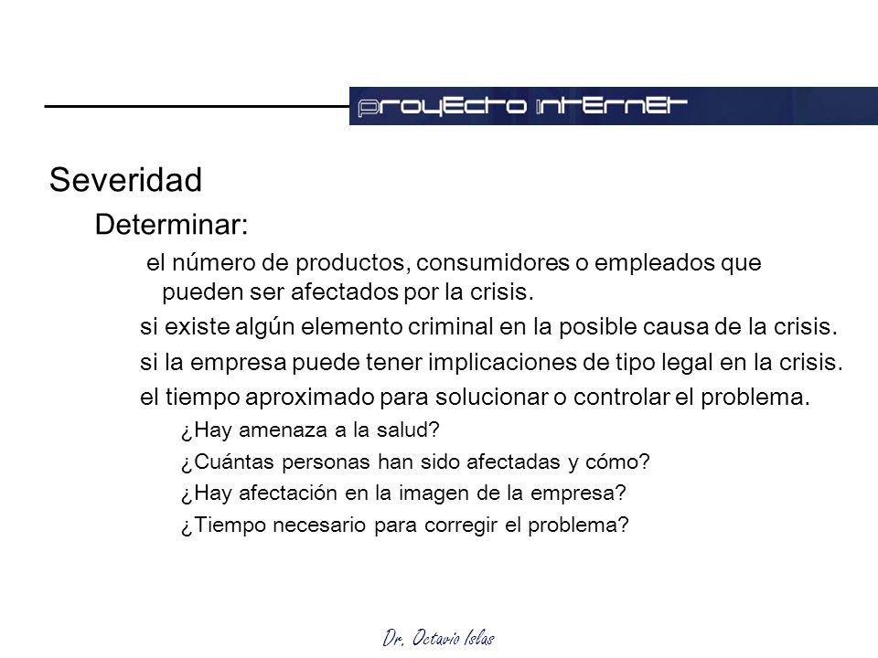 Severidad Determinar: