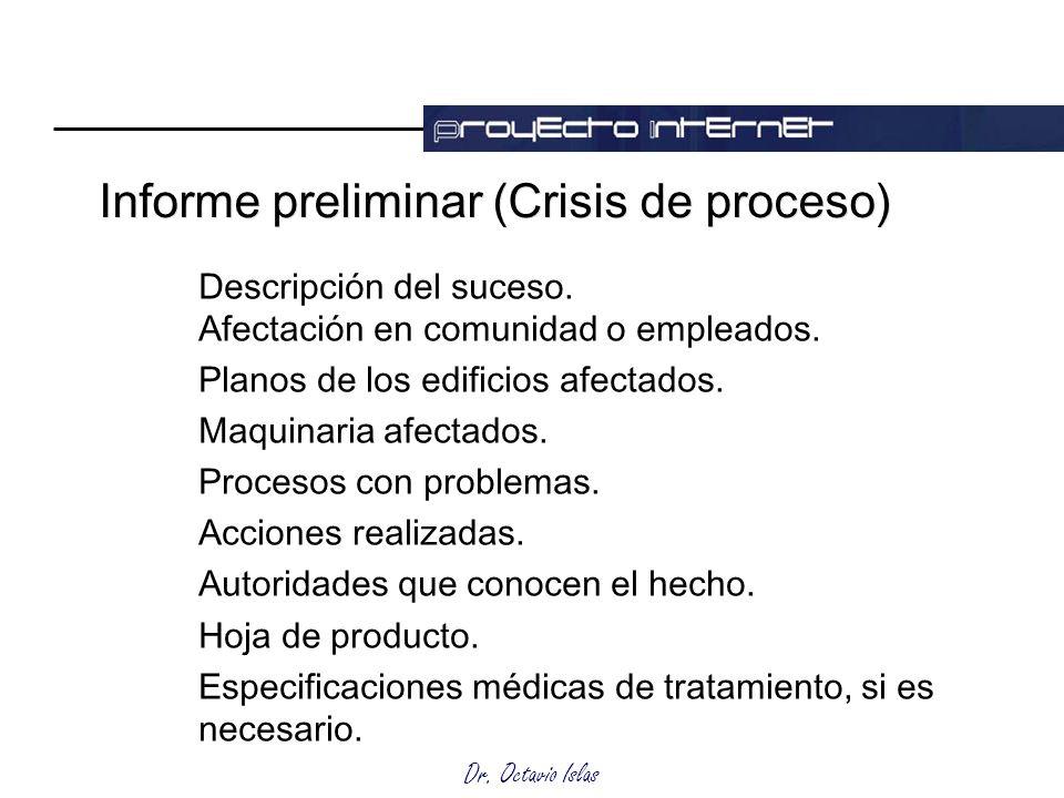 Informe preliminar (Crisis de proceso)