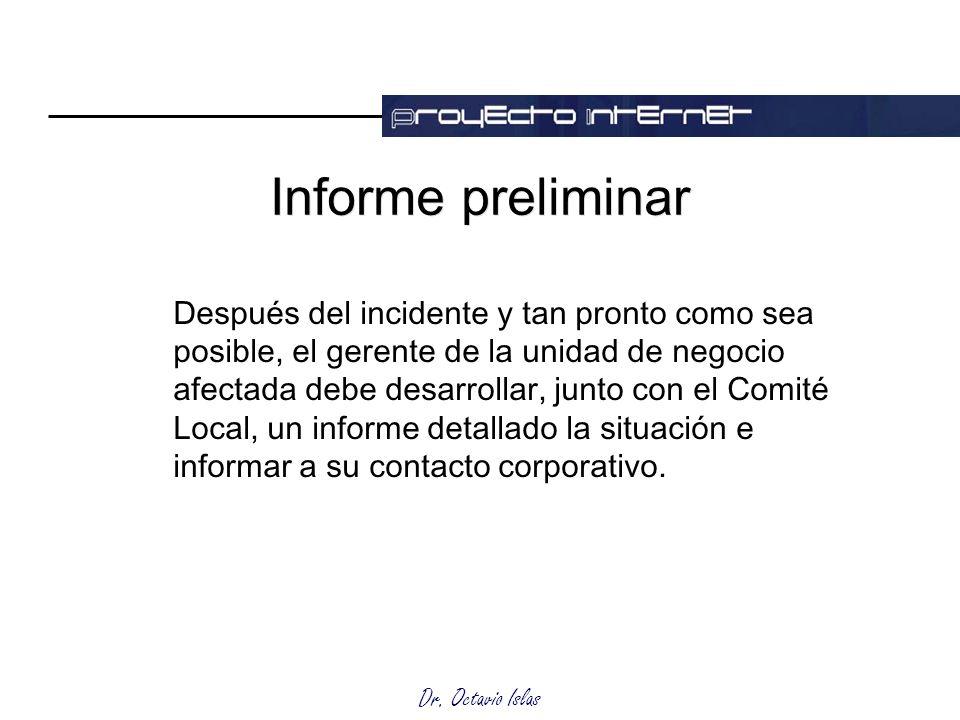 Informe preliminar