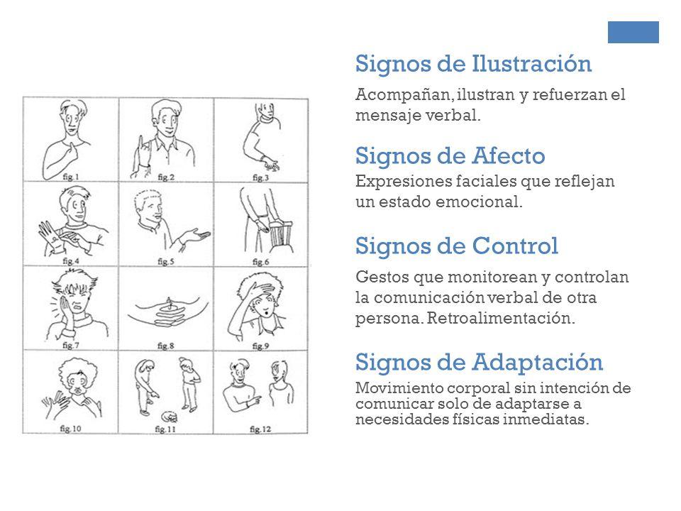Signos de Ilustración Signos de Afecto Signos de Control