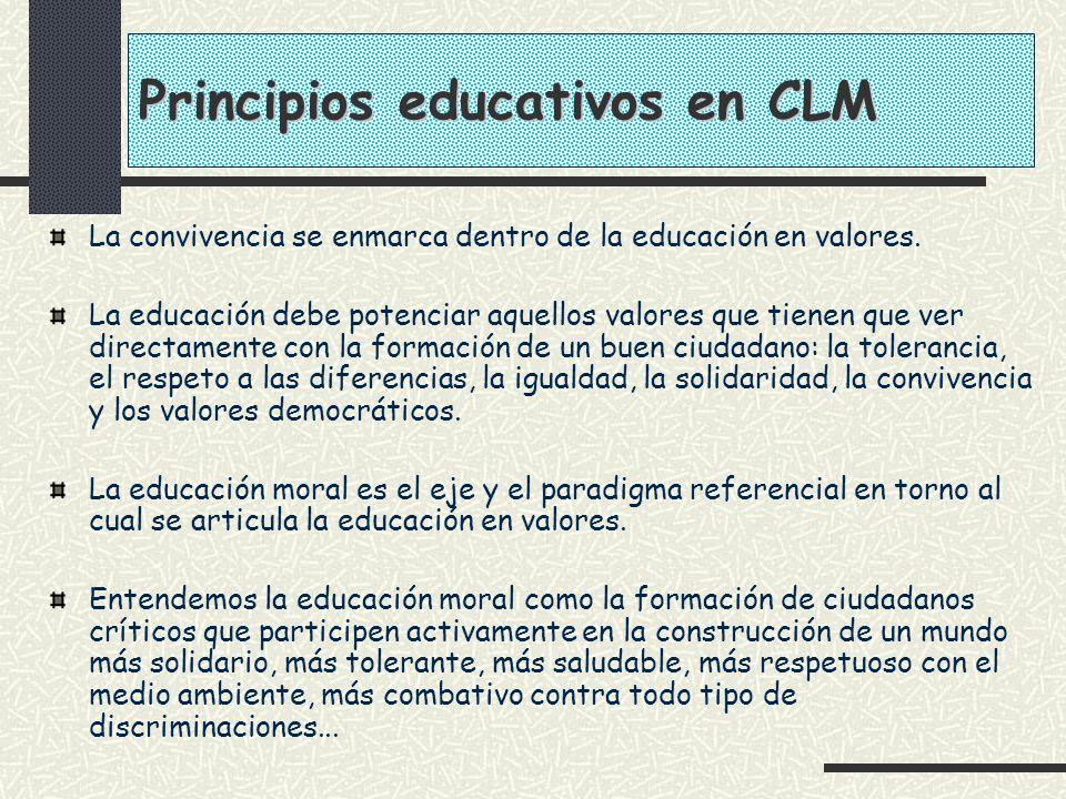 Principios educativos en CLM