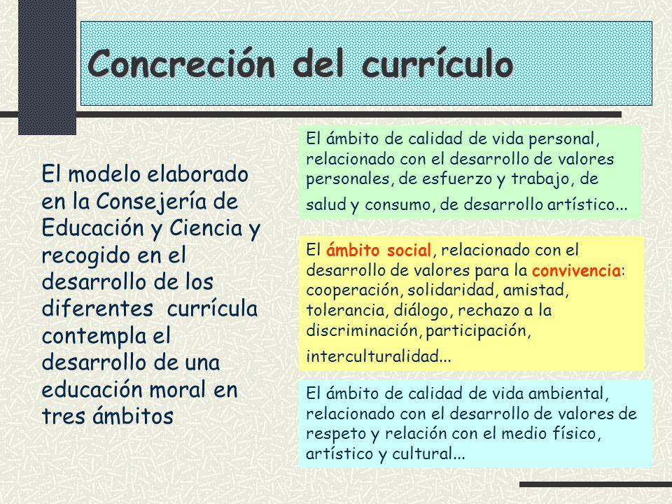 Concreción del currículo