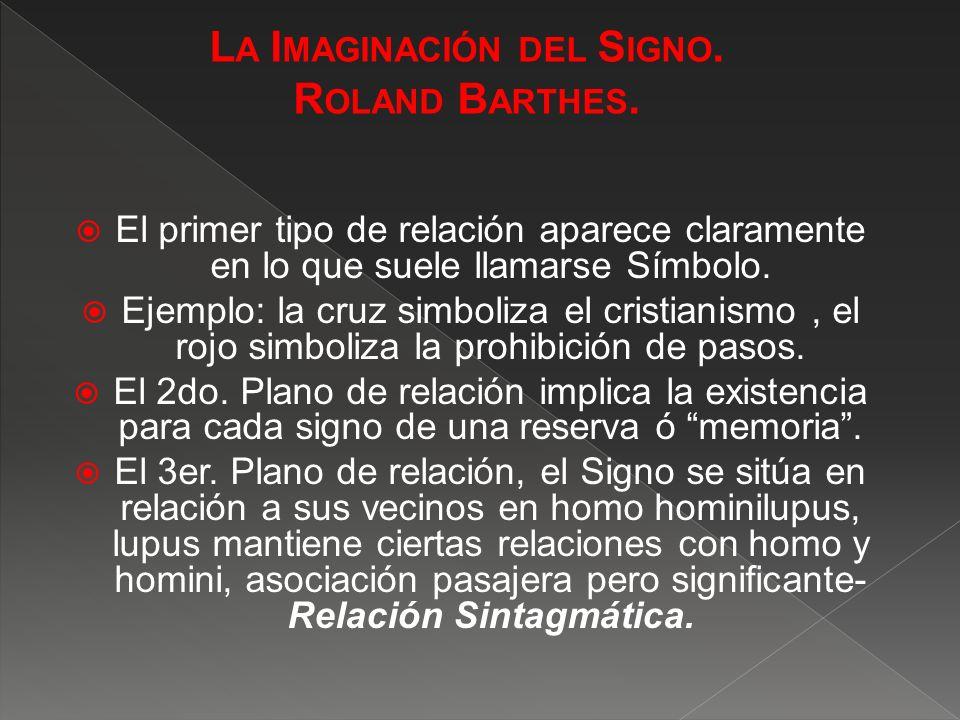 La Imaginación del Signo.